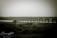 Bridge (ibounce2ounce) Tags: pakistan sunset abstract home colors silhouette architecture bokeh dam bridges multan