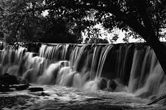 Morning Waterfall (Ken Mattison) Tags: park longexposure blackandwhite bw motion nature water monochrome landscape waterfall movement outdoor serene wnc whitnallpark panasoniclumix wehrnaturecenter milwaukeecountyparks fz1000