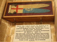 Exeter Cathedral Scotts Flag (ir0ny) Tags: england scott cathedral flag devon exeter discovery antarctic exetercathedral robertscott scottoftheantarctic robertfalconscott sledgingflag