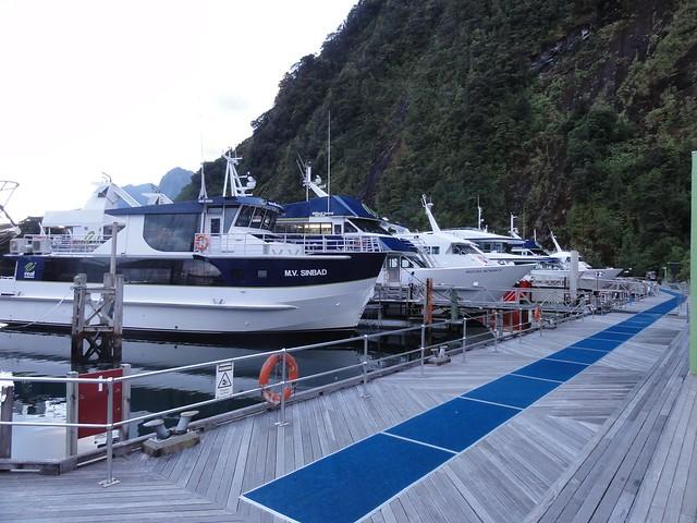 Milford sound tourist boat marina 3