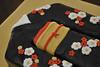 Kimono Cake_Close Up (Kathy-Cakes) Tags: flowers red white black cake with kimono blackkimono kimonocake