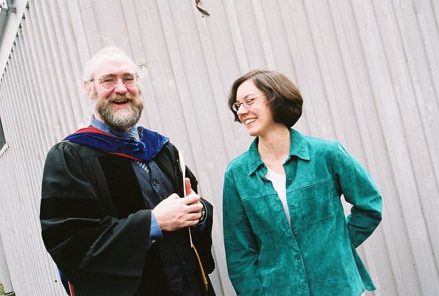 Computer Science Professor Jim Mahoney with a Grad