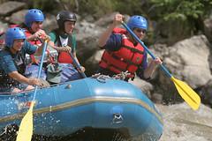 Paddle hard On the Karnali river Adventure rafting and kayaking trip