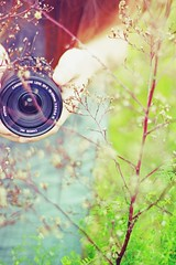 Capture the moment. (J'adore Je t'aime) Tags: summer plants plant flower tree cute floral girl leaves canon hair lens leaf spring flora hand dress branches fingers teen kawaii teenager