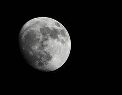 Moon... Waxing gibbous (Cosper Wosper) Tags: moon space luna crater blinkagain