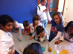 Visiting scientists from Abbott (Bay Area Discovery Museum) Tags: colors kids children creativity stem experiment science mixing childrensmuseum abbott bayareadiscoverymuseum scienceyou
