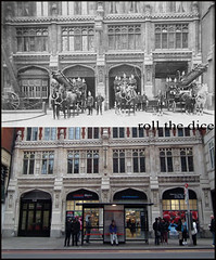 Bishopsgate Fire Station`1896-2012 (roll the dice) Tags: old city uk windows horses london art history classic architecture fire uniform traffic garage helmet victorian strangers location tesco busstop gb local ladder firestation emergency past firefighters liverpoolstreet grade2 bishopsgate listed unaware brigade oldandnew 999 ec2 pastandpresent londonist bygone ec3 hereandthen