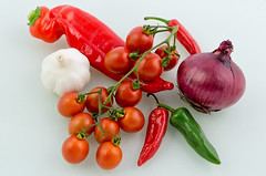 Salsa Mix (Jez22) Tags: red copyright food white color green vegetables fruit tomato cherry pepper salad juicy healthy raw tomatoes vine tasty vegetable fresh delicious crop vegetarian produce onion isolated chillies freshness ripe nutrition ripened sugardrop jeremysage