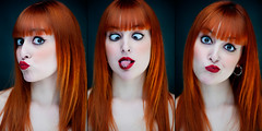 (-Poison Girl-) Tags: red orange girl hair ginger long fringe redhead straight poison bangs poisongirl