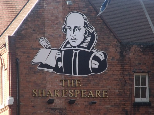 The Shakespeare - Lionel Street, Birmingham - pub sign