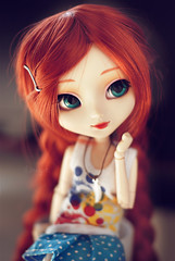 Lichi's new wig~ (neys.) Tags: blue red cute eyes doll m cm pullip 27 haired kirsche lichi obitsu sbhm