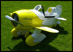Pedal Plane (Dusty_73) Tags: car kids plane airplane toy cool aircraft aviation stuff neat custom built pedal pedalcar geebee pedalplane