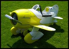Pedal Plane (Dusty_73) Tags: car kids plane airplane toy cool aircraft aviation stuff neat custom built pedal pedalcar geebee pedalplane