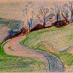 "<b>Rudolstadt November 1918</b><br/> Marguerite Wildenhain ""Rudolstadt November 1918"" Crayon, 1918 LFAC # 776<a href=""http://farm8.static.flickr.com/7044/6852374983_09b2aaa086_o.jpg"" title=""High res"">∝</a>"