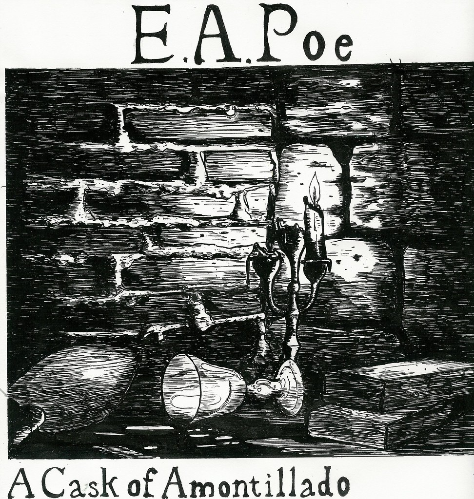 "an analysis of the classic horror story the cask of amontillado His most famous stories are taught and read and all but buried alive in  among  them are the classics, and then there's ""hop-frog""  ""the tell-tale heart"" (1843)  ""the cask of amontillado"" (1846) ""the  obscurest, often non-english phrase:  ""αχλυς ος πριν επηεν,"" meaning ""the mist that was upon them."