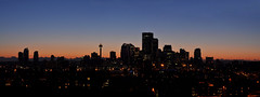 Calgary Blue Hour (Surrealplaces) Tags: calgary skyline downtown cityscape alberta bluehour sooc