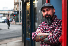 The Tattoo Artist (csh 22) Tags: portrait 50mm glasgow candid streetportrait glasgowcross tattooartist nikond90 glasgowstreetphotography