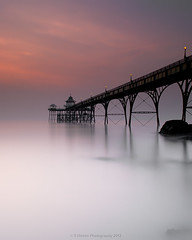 c l e v e d o n (Scott Howse) Tags: uk longexposure sunset england sky water coast pier dusk somerset lee filters clevedon 09h 09nd