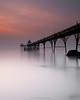 c l e v e d o n (Scott Howse) Tags: uk longexposure sunset england sky water coast pier dusk somerset lee filters clevedon 09h 09nd