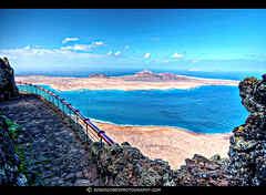 Mirador del Rio Lanzarote Balcony View (Edwinjones) Tags: pictures travel vacation holiday color colour building nature architecture island photography lava photo spain angle photos picture lanzarote wideangle cesar tours viewpoint canaries canaryislands hdr mirador miradordelrio sigmawide sonya700