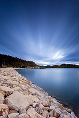 Blue exposure (Antonio Carrillo (Ancalop)) Tags: sunset espaa sun sol water canon landscape atardecer spain agua europa europe long exposure mark dam paisaje pantano murcia filter le ii l 5d lopez antonio 1740mm f4 carrillo presa exposicion embalse larga hoya argos gradual caravaca nd400 cehegin gnd8 ancalop