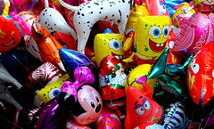 (Michaela Damm) Tags: color colour mouse star micky nikon ballon patrick mini disney spongebob luft bunt luftballon dalmatiner d90