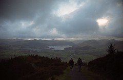 Lakes (POWRS) Tags: trees sky people mountains nature clouds landscape lakes