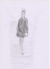 strong (Irina Bolohan) Tags: paris france cute beautiful fashion dress drawing chic runaway ira bolohan