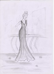 elegance (Irina Bolohan) Tags: paris france cute beautiful fashion dress drawing chic runaway ira bolohan