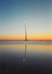 STS-102 (Matt Champlin) Tags: life old usa beach beautiful sunrise dawn florida space flight nasa shuttle scanned rocket kennedyspacecenter launch outerspace discovery roar kennedy spaceshuttlelaunch spaceshuttlediscovery sts102 spaceshuttlelaunchatdawn