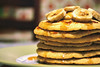 #048 ([ iany trisuzzi ]) Tags: food kitchen pancakes digital canon eos rebel dof bokeh banana honey day48 xsi 35mmf2 project365 365days 48365 450d