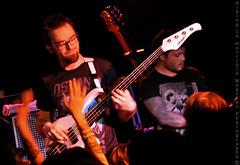 Adam and Matt of D.R.U.G.S. (Hiding In Horrible Weather) Tags: seattle tour live sin drugs bassist mattgood elcorazon bassplayer strengthinnumbers adamrussell destroyrebuilduntilgodshows