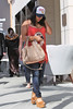 Vanessa White from The Saturdays shopping in Beverly Hills. Los Angeles, California