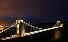 Clifton Suspension Bridge at night 3 (Jo Evans1 - trying to catch up) Tags: camera bridge bristol suspension kingdom observatory gorge avon clifton obscura brunel isembard
