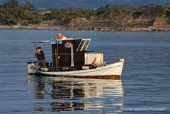 old fisherman (george papapostolou) Tags: blue sea people beach nature colors landscape island fisherman kos greece