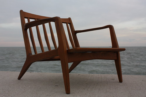 Memorable Danish Mid Century Modern Teak Sculptural Lounge Chair