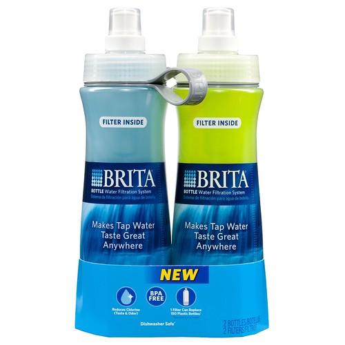 德国 碧然德 Brita 24-Ounce Bottle with Filter滤水直饮水壶2只装