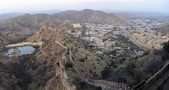 Eagle eye panorama of Amer (Saumil U. Shah) Tags: travel india history tourism beautiful architecture amber fort palace tourist historic fortress jaipur rajasthan amer shah jaigarh  saumil aravalli  incredibleindia    saumilshah