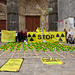 Greenpeace sur la place de la Cathédrale