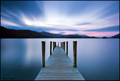 Finally (Martin Steele.) Tags: uk longexposure sunset jetty lakedistrict cumbria derwentwater keswick ashness