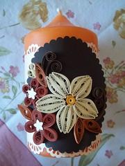 Vela decorada (martinaquill) Tags: flowers flores candle vela filigree quilling filigrana