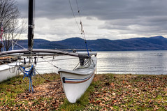 Catamaran (Gene Krasko Photography) Tags: usa lake newyork boats boat adirondacks hague lakegeorge shore catamaran newyorkstate adirondack adirondackmountains newyorkupstate