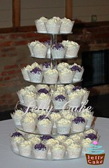Butterfly Wedding Cupcakes (www.jellycake.co.uk) Tags: wedding tower barn butterfly cupcake wellington wiltshire wrappers jellycake wwwjellycakecouk