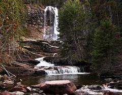Virginia Falls (CNorth2) Tags: park travel autumn usa fall nature water canon landscape waterfall montana united powershot glacier national states g11 virginiafalls