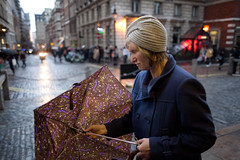 A trip down memory lane (Gary Kinsman) Tags: canon5dmkii canoneos5dmarkii canon28mmf18 london wc2 coventgarden market coventgardenmarket candid streetphotography streetlife f18 memorylane retro 50s style oldfashioned umbrella rain wet 2012 people person
