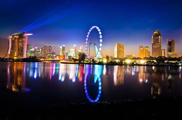 Singapore - When night meet day