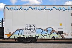 Normel (208 Bench) Tags: art train graffiti paint rail boxcar graff freight reefer tilx