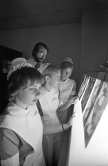 Mass. General Hospital student nurses, doc & instructor check x-rays, Boston (Boston Public Library) Tags: medicine hospitals medicalstudents spencergrant