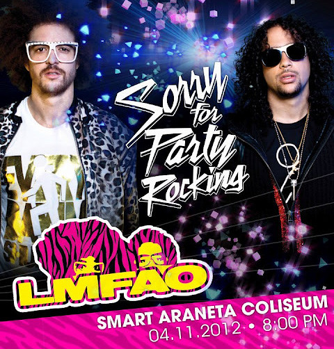 LMFAO Sorry for Party Rocking in Manila