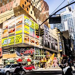 ~ a New York City minute ~ (Janey Kay) Tags: city nyc usa newyork primavera spring streetphotography squareformat timessquare printemps frühling formatcarré janeykay photographiedelarue april2012 panasoniclumixdmclx5 avril2012 explorationdelaville